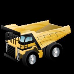 rigid dump truck batiment