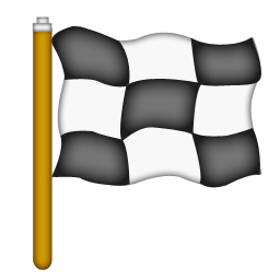 checkered flag drapeau course
