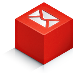 cube 3d mail color