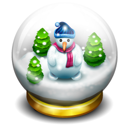 glass snow ball