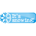 its snowing button