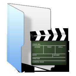 folder blue movies