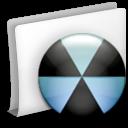 folder burn icon gravure