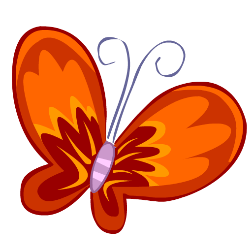 red butterfly papillon