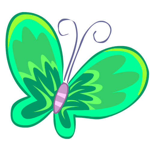 green butterfly papillon