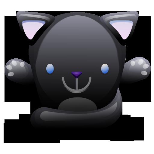 cat black chat