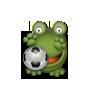 soccer grenouille