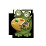 art set grenouille