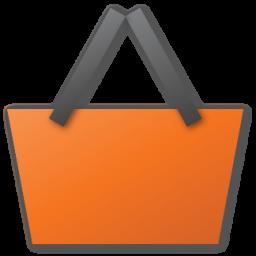 shopping basket red panier