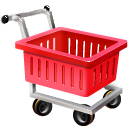 empty shopping cart caddie