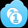 free bleu clouds coins monnaie