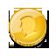 gold coin single monnaie