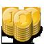 gold coin stacks monnaie