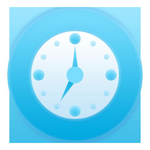 bluish clock horloge