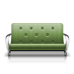 futon green fauteuil