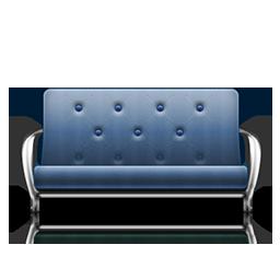 futon blue fauteuil