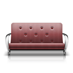 futon rose fauteuil