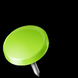 drawingpin left chartreuse punaise