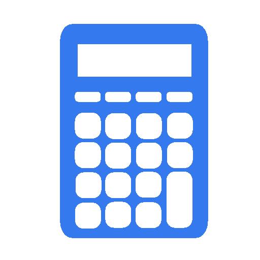 calculator blue calculatrice