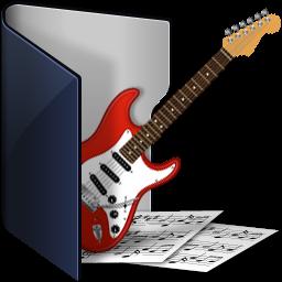 folder blue music