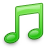 music note green
