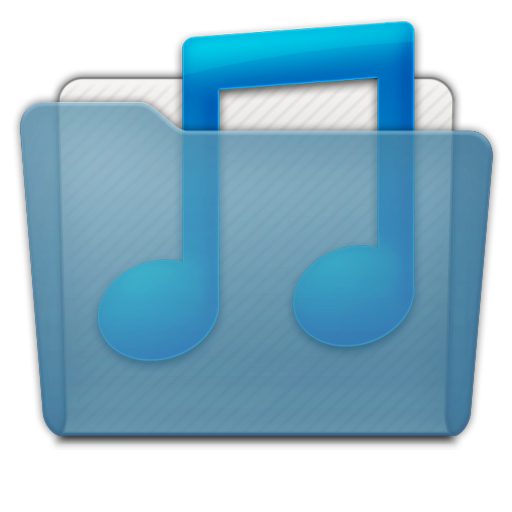 folder music blue