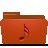 folder red music
