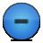 button minus blue
