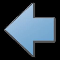 arrow left blue