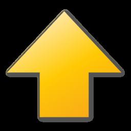 arrow up yellow