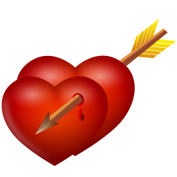 arrow and hearts