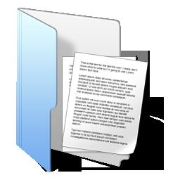 folder blue documents