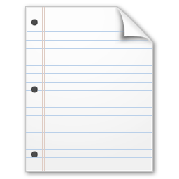 new document lined