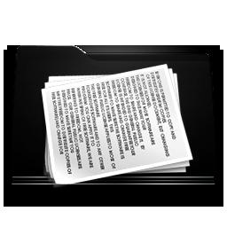 black folder documents