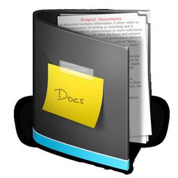 documents folder black