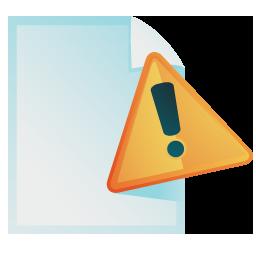 document warning 2