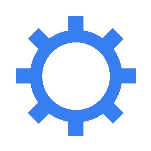 settings blue