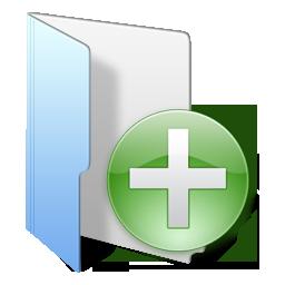 folder blue add