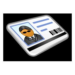 security card carte visite
