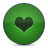 button heart green