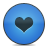 button heart blue
