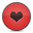 button heart red