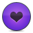 button heart violet