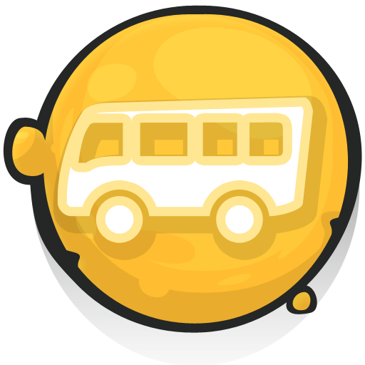cartoony icons bus