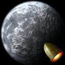 rocket moon icon