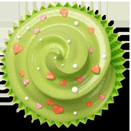 douceur cake muffin cupcake green