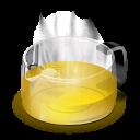 glass teapot yellow