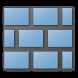 wall blue