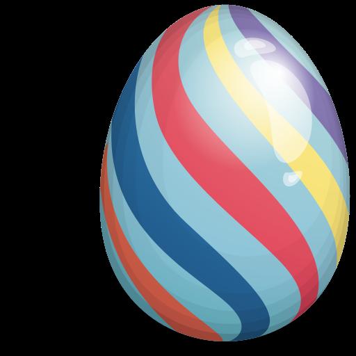 easter egg striped 512