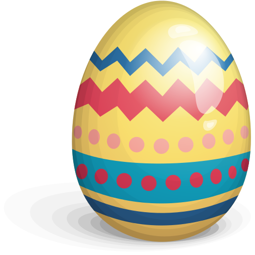 easter egg yellow red blue 512